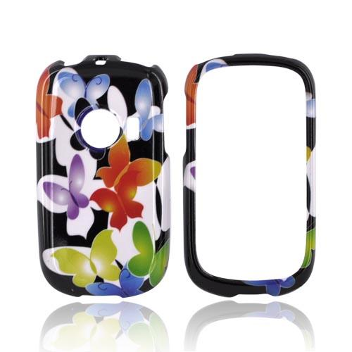 Huawei M835 Hard Case - Rainbow Butterflies on Black