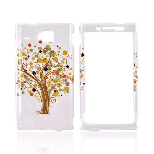 Huawei Ideos X6 Hard Case - Brown Tree on White