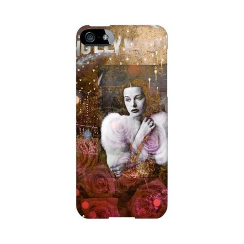 Glossy Hollywood Glam Americana Nostalgia Series GDL Ultra Slim Hard Case for iPhone 5/5S Geeks Designer Line