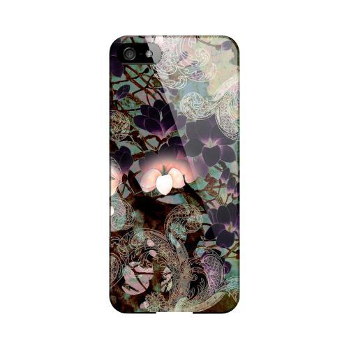 Lacy Flowers Impact Resistant Geeks Designer Line Asian Print Series Hard Case for Apple iPhone 5/5S