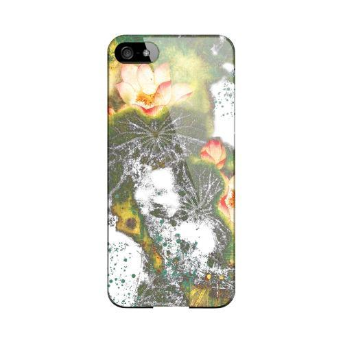 Lotus Flowers Impact Resistant Geeks Designer Line Asian Print Series Hard Case for Apple iPhone 5/5S