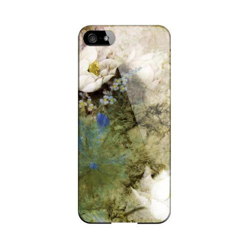 White Lillies Impact Resistant Geeks Designer Line Asian Print Series Hard Case for Apple iPhone 5/5S