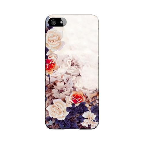 Vintage Roses Impact Resistant Geeks Designer Line Asian Print Series Hard Case for Apple iPhone 5/5S