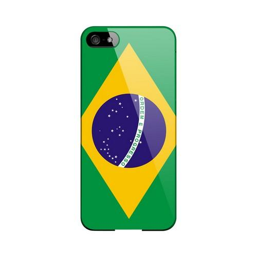 Brazil Geeks Designer Line Flag Series Slim Hard Case for Apple iPhone 5/5S