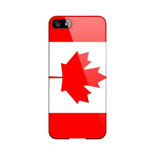 Canada Geeks Designer Line Flag Series Slim Hard Case for Apple iPhone 5/5S