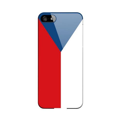 Czech Republic Geeks Designer Line Flag Series Slim Hard Case for Apple iPhone 5/5S
