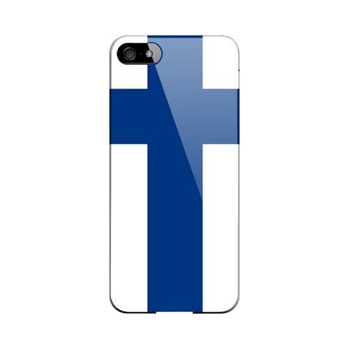 Finland Geeks Designer Line Flag Series Slim Hard Case for Apple iPhone 5/5S