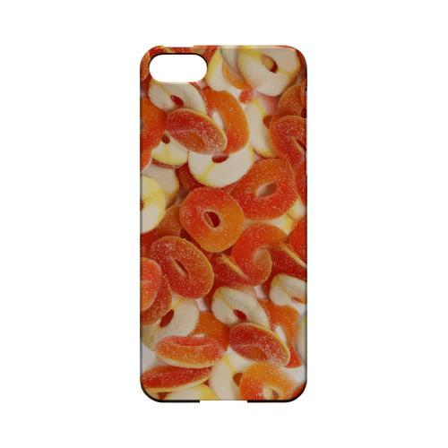 Orange/White Gummy Rings Geeks Designer Line Candy Series Slim Hard Back Cover for Apple iPhone 5/5S