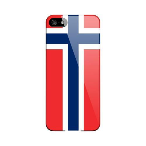 Norway Geeks Designer Line Flag Series Slim Hard Case for Apple iPhone 5