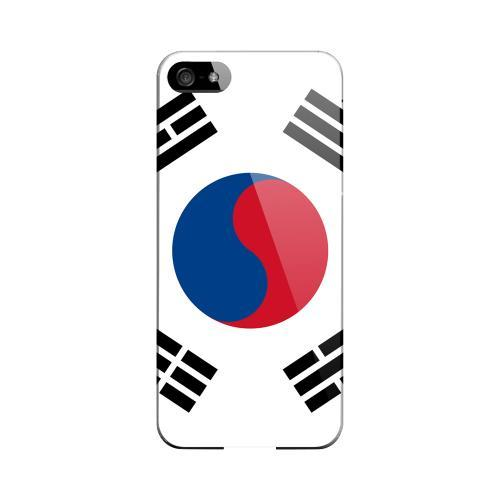 South Korea Geeks Designer Line Flag Series Slim Hard Case for Apple iPhone 5/5S