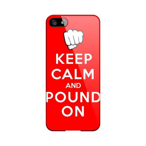 Red Pound On Geeks Designer Line Keep Calm Series Slim Hard Case for Apple iPhone 5/5S