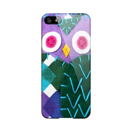 Purple/ Green Owl Geeks Designer Line Sports Series Slim Hard Case for Apple iPhone 5/5S