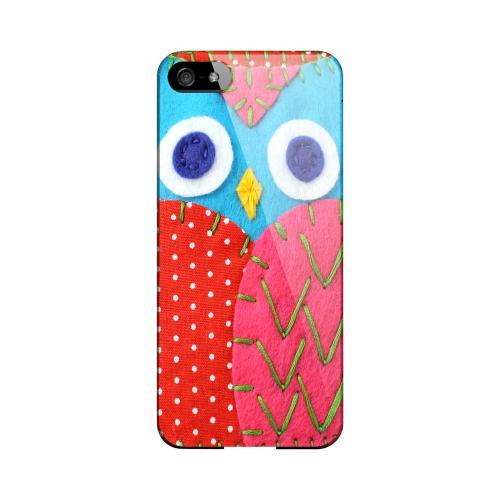 Sky Blue/ Pink Owl Geeks Designer Line Sports Series Slim Hard Case for Apple iPhone 5/5S