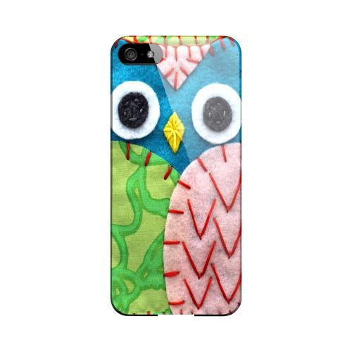 Blue/ Green Owl Geeks Designer Line Sports Series Slim Hard Case for Apple iPhone 5/5S