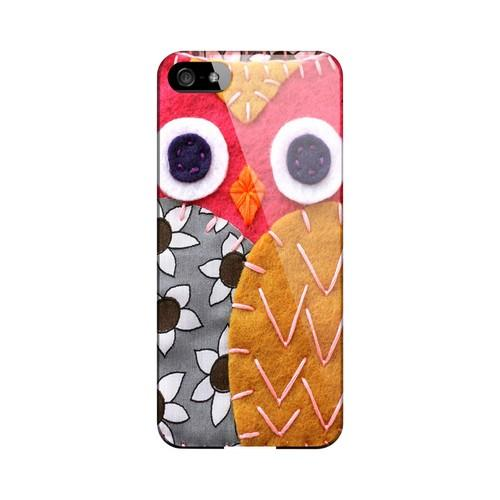 Hot Pink/ Dark Blue Owl Geek Nation Program Exclusive Jodie Rackley Series Hard Case for Apple iPhone 5/5S