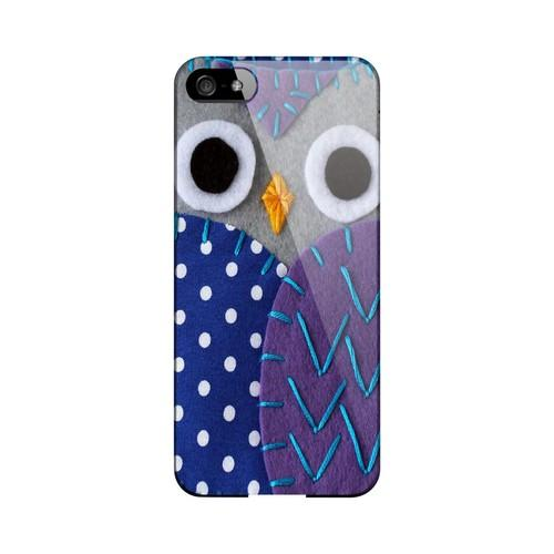 Gray/ Purple Owl Geek Nation Program Exclusive Jodie Rackley Series Hard Case for Apple iPhone 5/5S