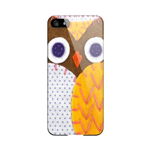 Brown/ Orange Owl Geek Nation Program Exclusive Jodie Rackley Series Hard Case for Apple iPhone 5/5S
