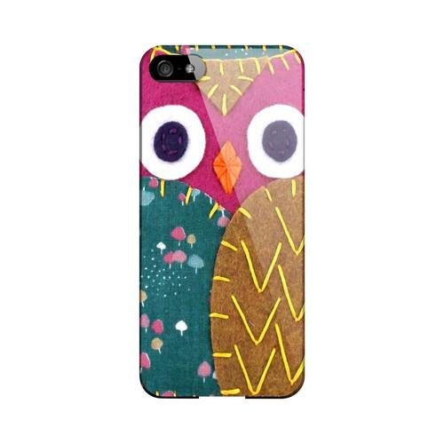 Hot Pink/ Brown Owl Geek Nation Program Exclusive Jodie Rackley Series Hard Case for Apple iPhone 5/5S
