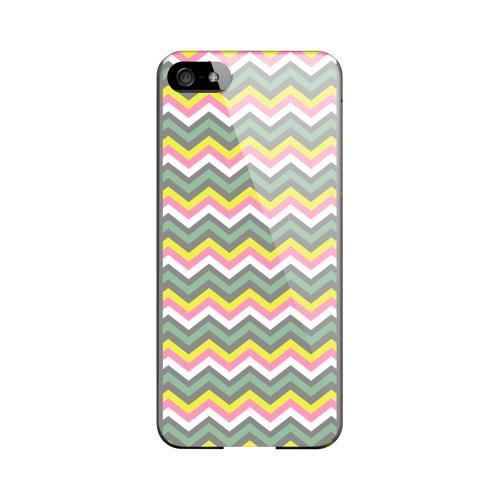 Pink/ Yellow/ Gray/ Green Geeks Designer Line Zig Zag Series Slim Hard Case for Apple iPhone 5/5S