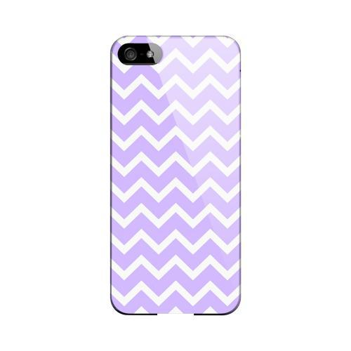 White on Light Purple Geeks Designer Line Zig Zag Series Slim Hard Case for Apple iPhone 5/5S