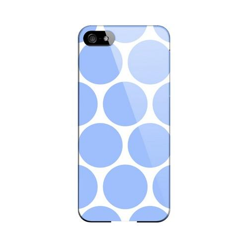 Big & Sky Blue Geeks Designer Line Polka Dot Series Slim Hard Case for Apple iPhone 5/5S