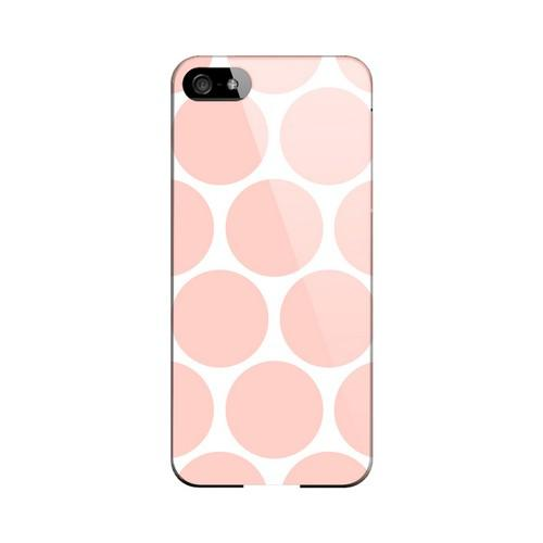Big & Baby Pink Geeks Designer Line Polka Dot Series Slim Hard Case for Apple iPhone 5/5S
