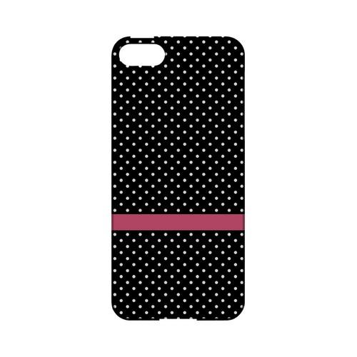 Pink Horizontal Stripe Geeks Designer Line Polka Dot Series Slim Hard Case for Apple iPhone 5/5S