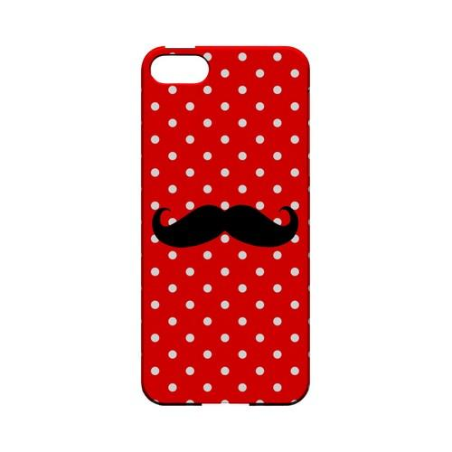 Stache on Red Geeks Designer Line Polka Dot Series Slim Hard Case for Apple iPhone 5/5S