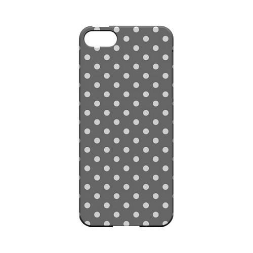 White Dots on Gray Geeks Designer Line Polka Dot Series Slim Hard Case for Apple iPhone 5/5S