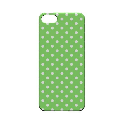 White Dots on Green Geeks Designer Line Polka Dot Series Slim Hard Case for Apple iPhone 5/5S