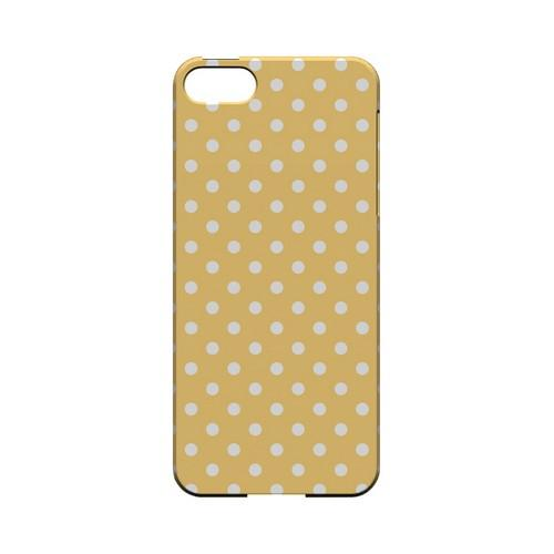 White Dots on Orange Geeks Designer Line Polka Dot Series Slim Hard Case for Apple iPhone 5/5S