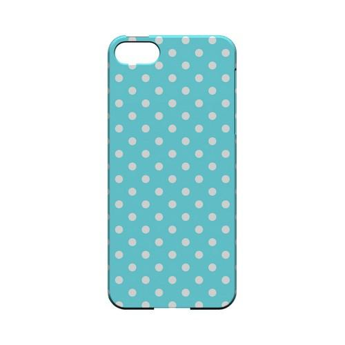 White Dots on Turquoise Geeks Designer Line Polka Dot Series Slim Hard Case for Apple iPhone 5/5S