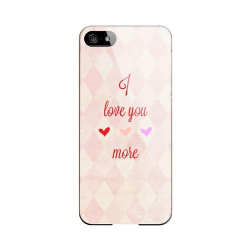 I Love You More Geeks Designer Line Heart Series Slim Hard Case for Apple iPhone 5/5S