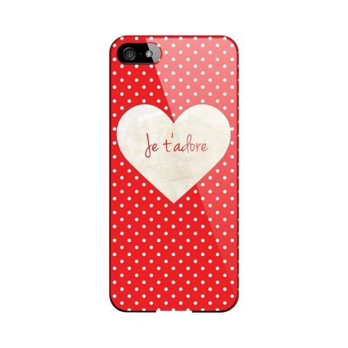 Je t'adore Geeks Designer Line Heart Series Slim Hard Case for Apple iPhone 5/5S