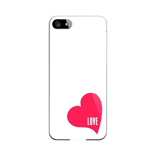 Love Heart Geeks Designer Line Heart Series Slim Hard Case for Apple iPhone 5/5S