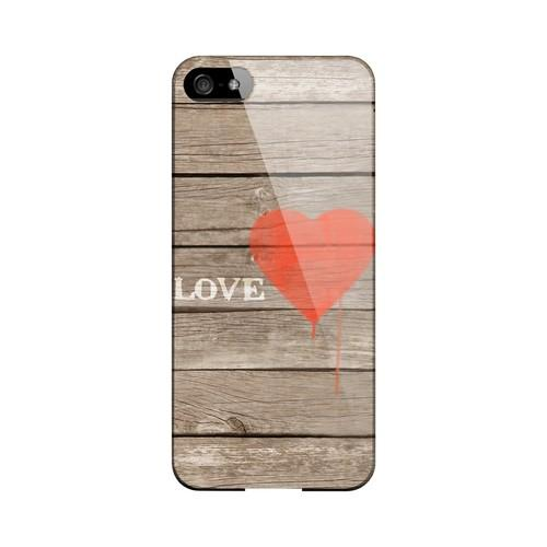 Rustic Love Geeks Designer Line Heart Series Slim Hard Case for Apple iPhone 5/5S