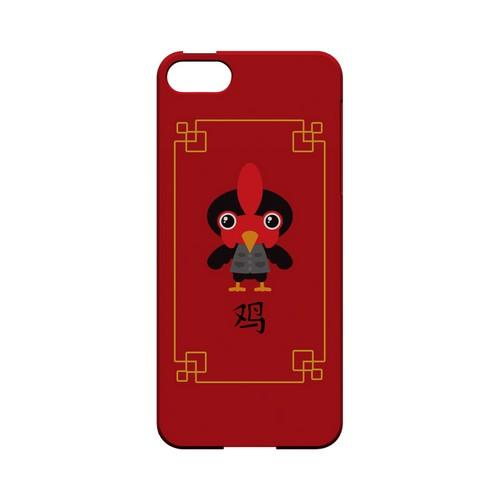 Chibi Rooster Geeks Designer Line Chinese Horoscope Series Slim Hard Case for Apple iPhone 5/5S
