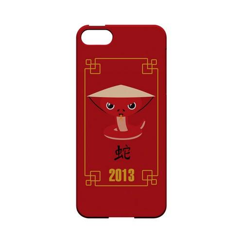 Chibi Snake Geeks Designer Line Chinese Horoscope Series Slim Hard Case for Apple iPhone 5/5S