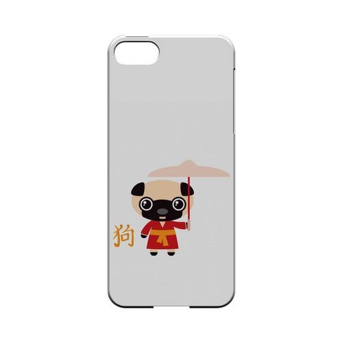 Dog on White Geeks Designer Line Chinese Horoscope Series Slim Hard Case for Apple iPhone 5/5S