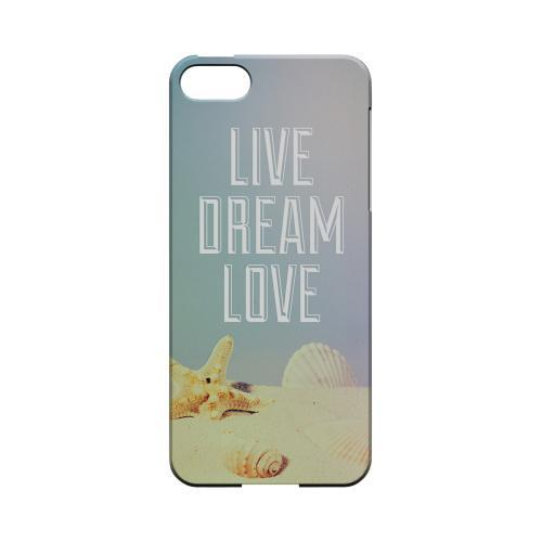 Live Dream Love Geeks Designer Line Beach Series Slim Hard Case for Apple iPhone 5/5S