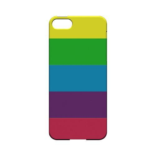 Rainbow Candy Stripes - Geeks Designer Line Stripe Series Hard Case for Apple iPhone 5/5S