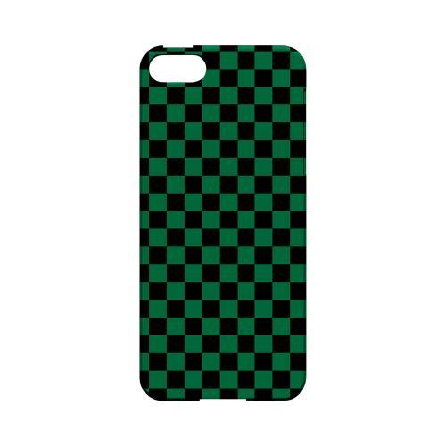 Green/ Black - Geeks Designer Line Checker Series Hard Case for Apple iPhone 5/5S