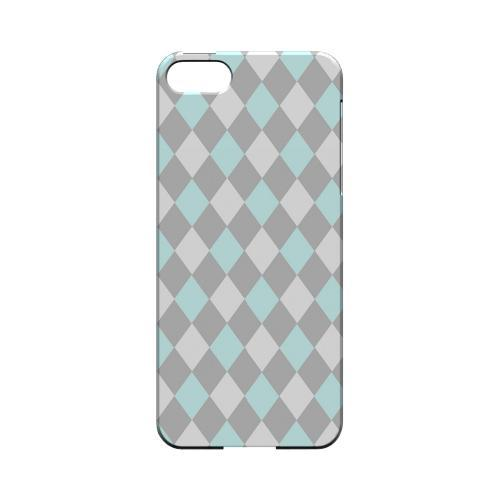 Pink/ Blue/ Gray Argyle - Geeks Designer Line Checker Series Hard Case for Apple iPhone 5/5S