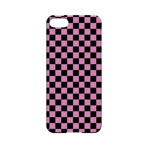 Pink/ Black - Geeks Designer Line Checker Series Hard Case for Apple iPhone 5/5S