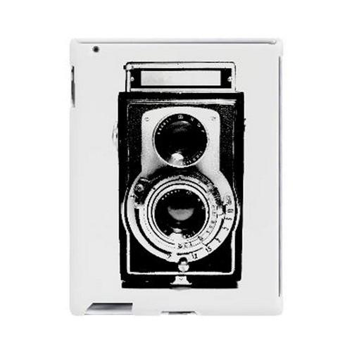 Geeks Designer Line (GDL) Retro Series Apple iPad (2nd & 3rd Gen.) Slim Hard Back Cover - Black Film Noir Camera