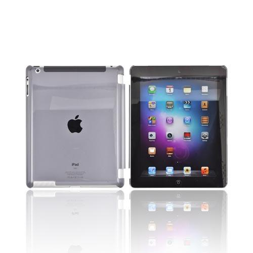 Apple New iPad (3rd Gen.) Hard Case - Transparent Smoke (Works with Smart Cover!)