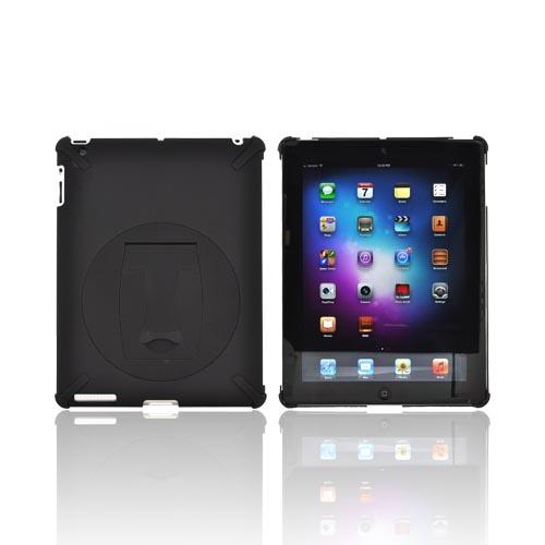 Apple New iPad (3rd Gen.) Hard Case w/ Rotatable Kickstand - Black