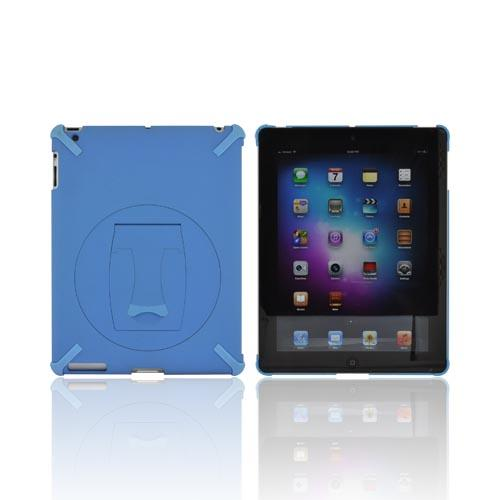 Apple New iPad (3rd Gen.) Hard Case w/ Rotatable Kickstand - Sky Blue
