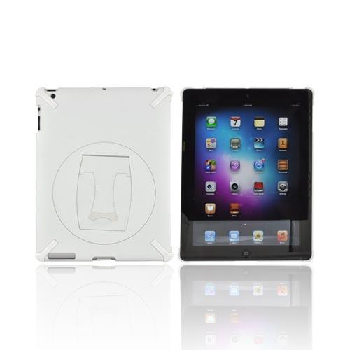 Apple New iPad (3rd Gen.) Hard Case w/ Rotatable Kickstand - White