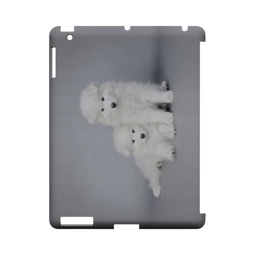 Samoyed Puppies Geeks Designer Line Puppy Series Slim Hard Case for Apple iPad (3rd & 4th Gen.)